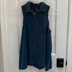 Denim Shirt Tank